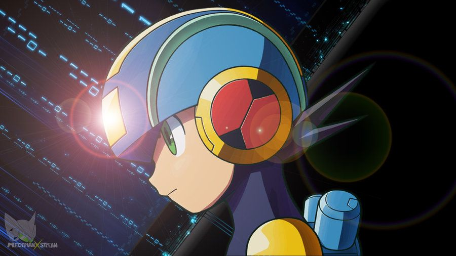 Megaman Exe On Air Wallpaper Improved By Megamanxstream On Deviantart Mega Man Art Mega Man Wallpaper