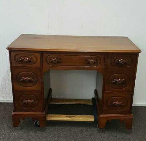 1958 Davis Cabinet Lillian Russell Walnut Desk Walnut Desks Desk Walnut Writing Desk