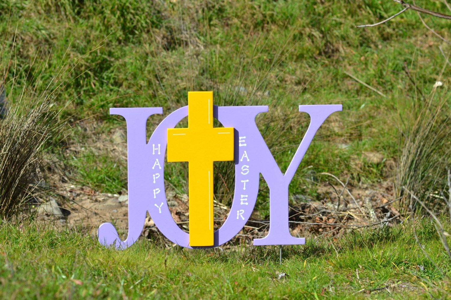 Religious easter yard decorations - Easter Religious Outdoor Yard Decoration Wood Sign Joy With Cross Pinterest Nice Yard Decorations And The O Jays