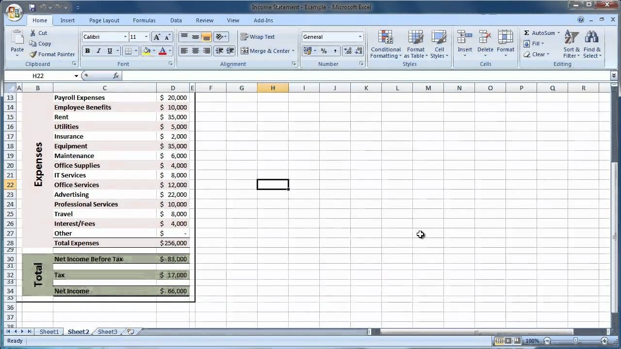 The terrific Statement Template Excel Template