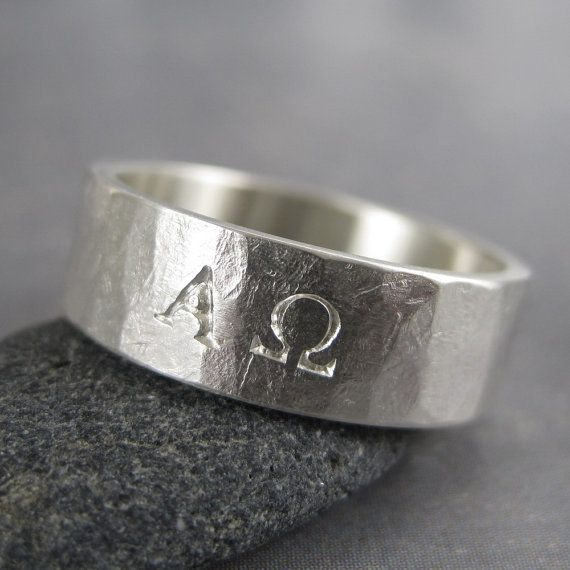 Alpha Omega ring, sterling silver christian jewelry in 2019
