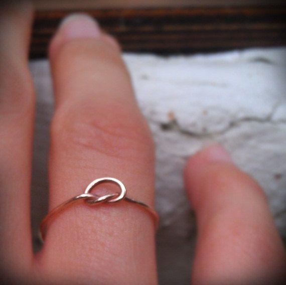 Knot Ring in 14K Rose gold filled by BijuBee on Etsy, $15.00
