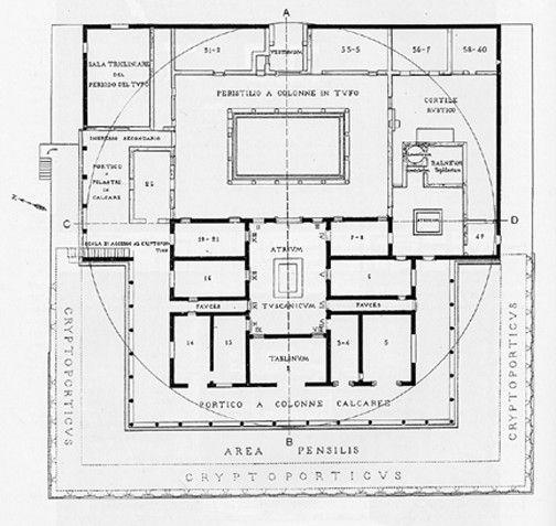 Villa Mysteries Plan Pompeii Roman House Roman Architecture Roman Villa