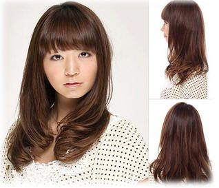 Korean long hairstyles with bangs for round faces | All About Hair | Pinterest | Long hairstyle ...