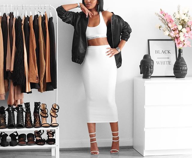 ▪️▫️Jacket @hm (Men's department) Top @calvinklein Skirt @missguided Heels @publicdesire