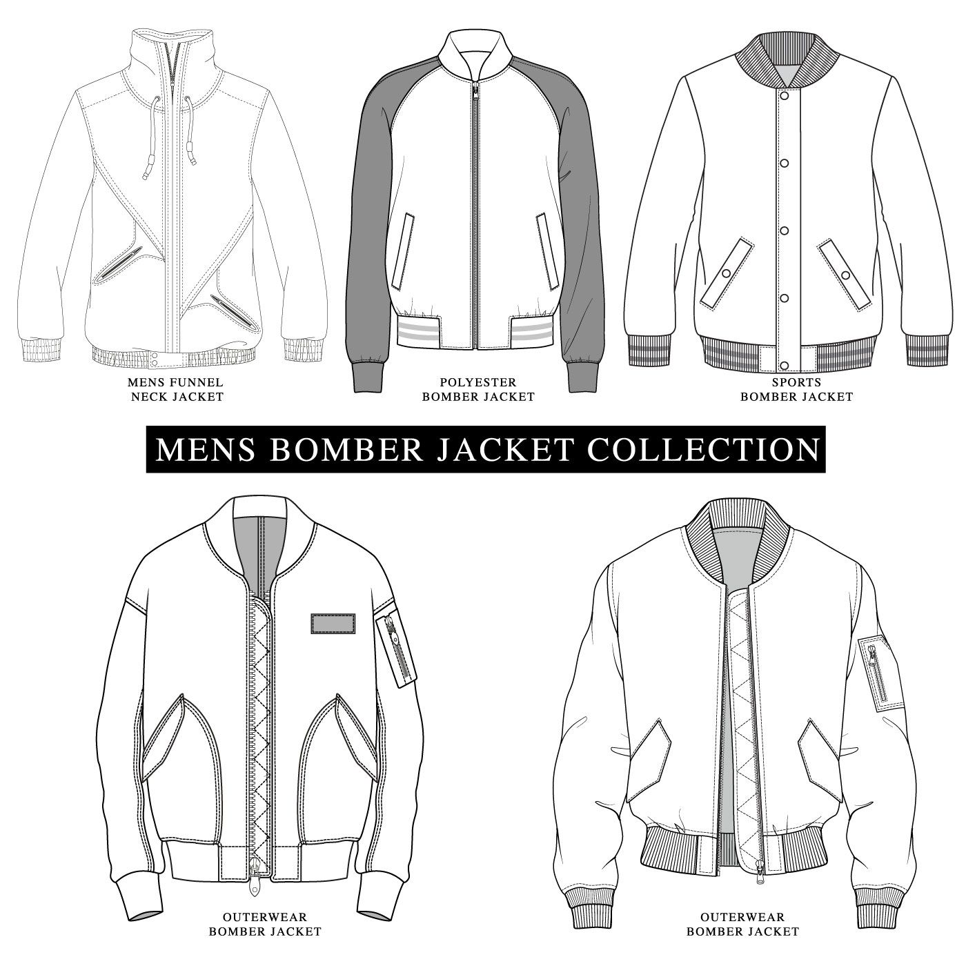 Bomber Jacket Collection Patterned Bomber Jacket Mens Jacket Pattern Jacket Drawing [ 1400 x 1400 Pixel ]