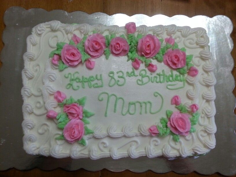 Stupendous Moms 83Rd Birthday Cake With Images 83Rd Birthday T Ideas Personalised Birthday Cards Beptaeletsinfo