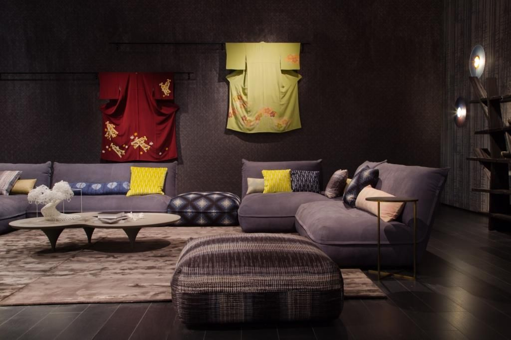 Bobois Mobili ~ Roche bobois at the salone del mobile octet sofa designed by