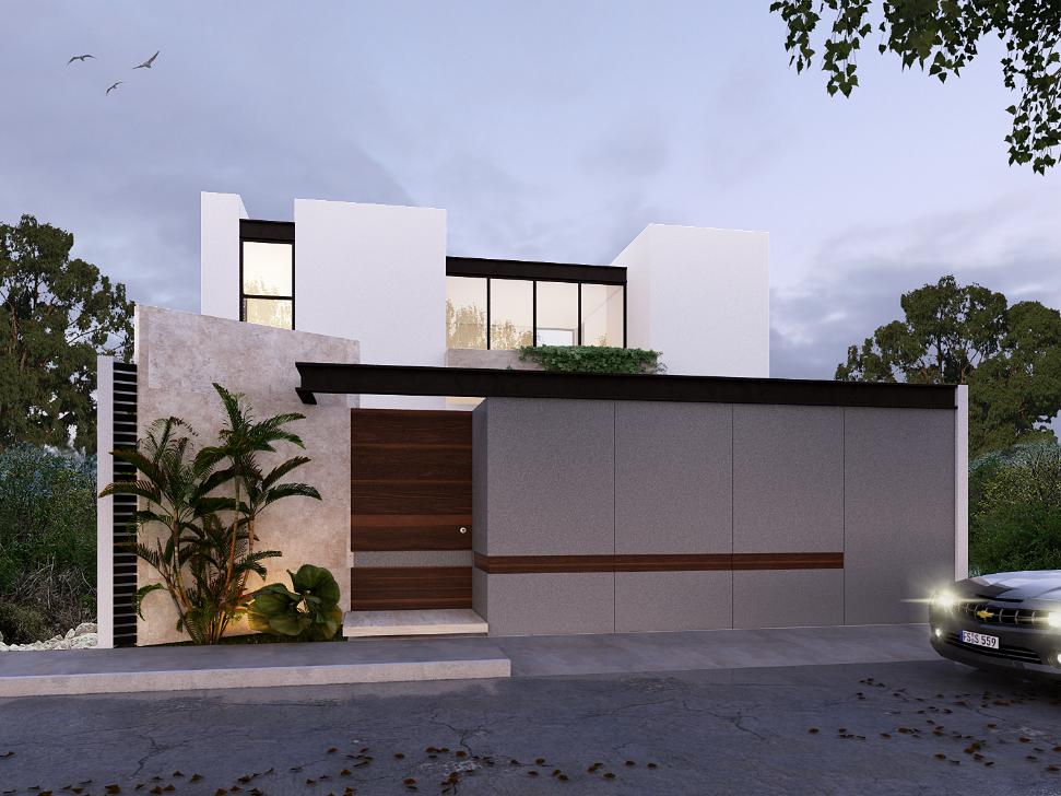 Fachadas house design pinterest inmobiliarias for Fachadas de casas modernas en queretaro