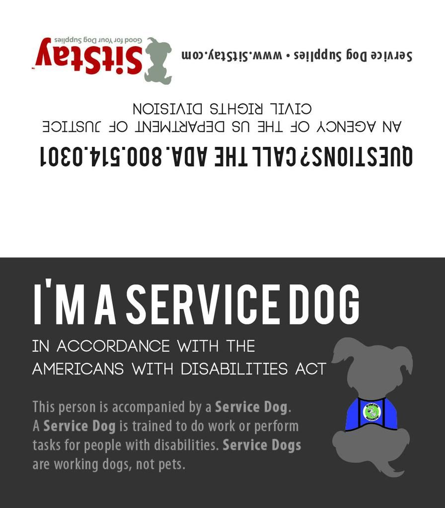 Service Dog Definition Ada Guidelines 25 Cards Service Dogs Psychiatric Service Dog Service Dog Training