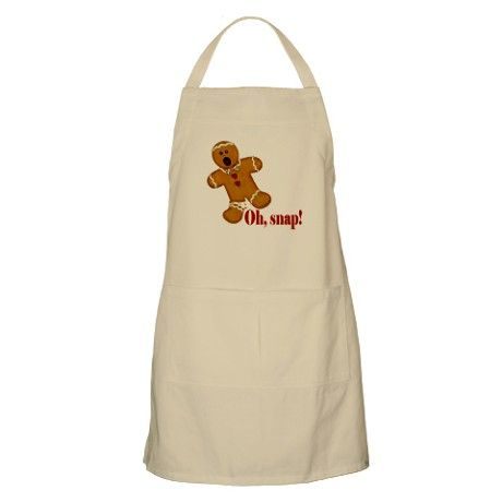 Oh Snap Gingerbread Man Christmas Apron By Matryoshka Boutique Cafepress Christmas Aprons Aprons For Sale Gingerbread Man