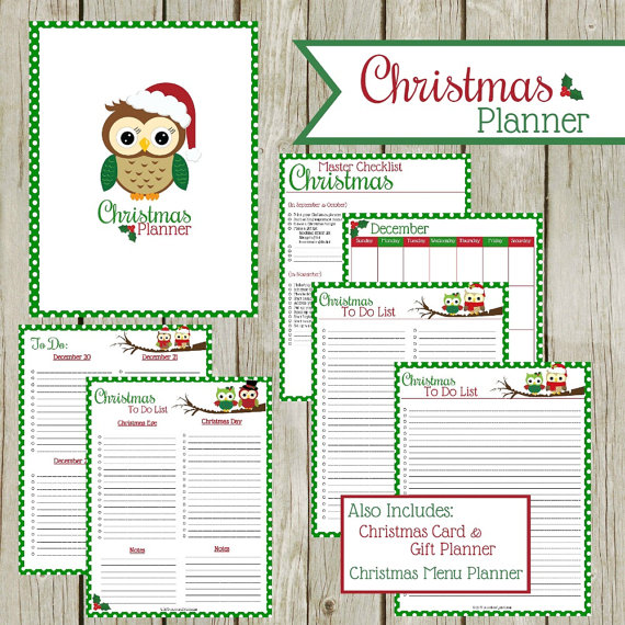 Christmas Planner Instant Download Products
