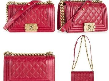 9709db796843 Chanel Brand New Classic Small Le Boy Flap Lambskin Bronze Hw Red Dark Red Cross  Body Bag