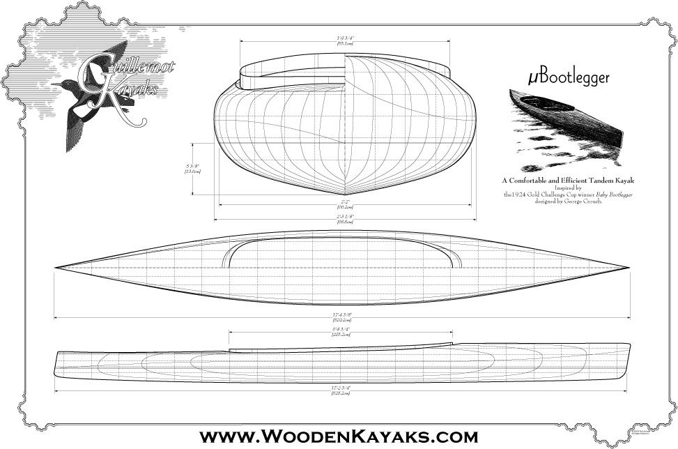 MicroBootlegger Double Paddle Canoe Plans | Guillemot Kayaks - Small Wooden Boat Designs