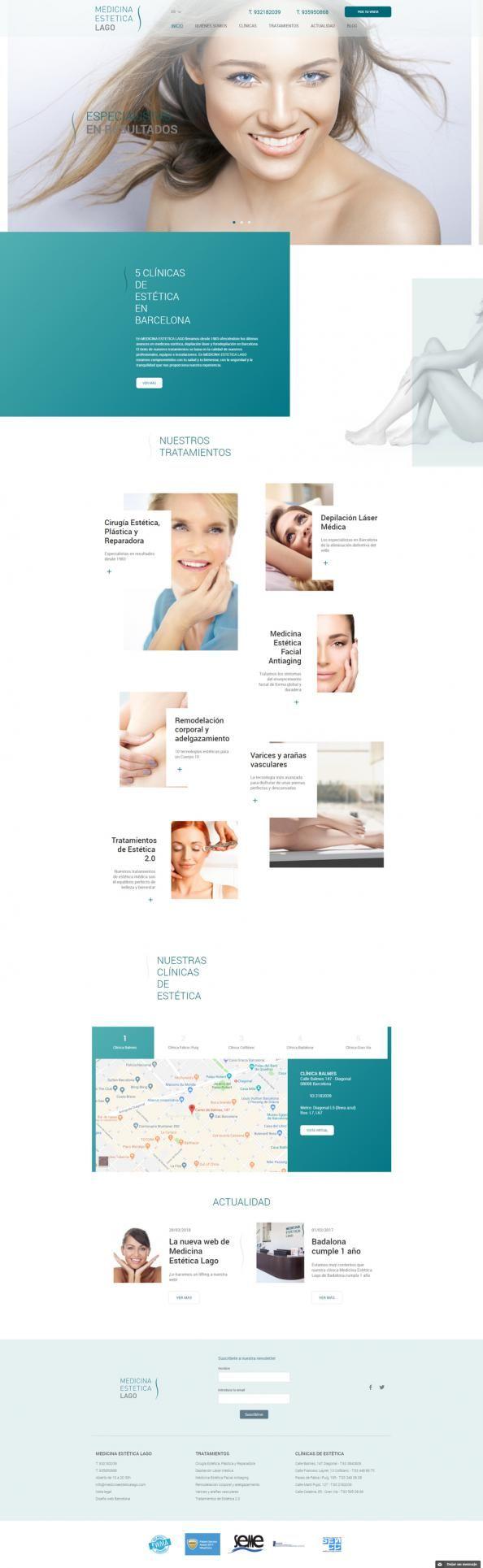 Diseño web y seo para una clínica de estética en Barcelona ...