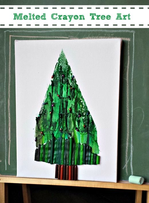 Broken Crayon Christmas Tree Craft