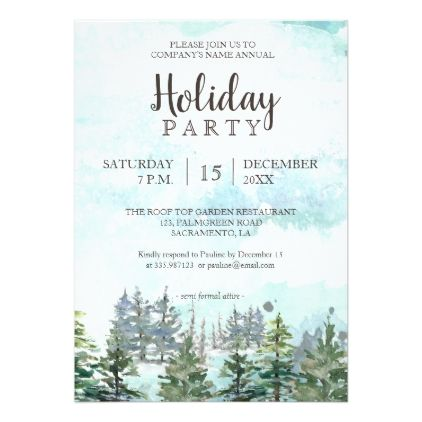 Holiday party woodland winter invitation holidays and winter holiday party woodland winter invitation stopboris Images