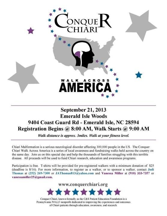 """Chiari Malformation  Conquer Chiari Walk Across America 2013! If you can't make it to walk, you can sponsor my 6 year old son Caleb. 100% goes directly to Conquer Chiari! Visit https://www.conquerchiari.org/ccwaa13/CalebMiller and click on the button """"sponsor Caleb Miller"""". Thank you!"""