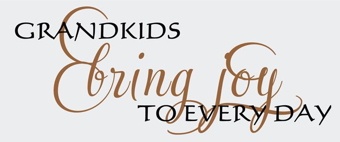 Grandkids Bring Joy, Family Wall Art Decal {gifts