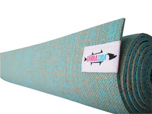 Hot Yoga Mat By Barracuda Infused With All Natural Sustainably Harvested Jute Fiber Highest Grade Non Toxic Materials Hot Yoga Mat Natural Yoga Mat Hot Yoga