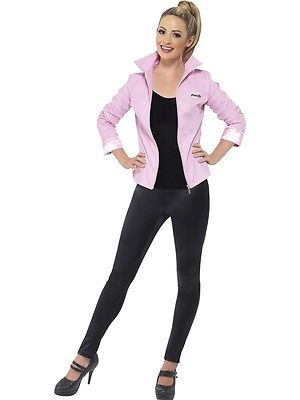 Deluxe grease pink #ladies jacket fancy #dress #costume official - greaser halloween costume ideas