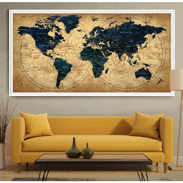 Decorative extra large world map push pin travel wall art poster decorative extra large world map push pin travel wall art poster 97 gumiabroncs Image collections