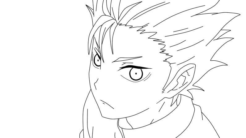 Haikyuu Nishinoya Lineart By Pikoutatane27 D8k21oz Jpg 796 446 Anime Lineart Anime Drawings Tutorials Haikyuu Nishinoya