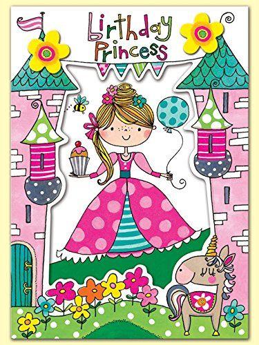Rachel Ellen Princess Birthday Card Amazoncouk Office Products Wishes