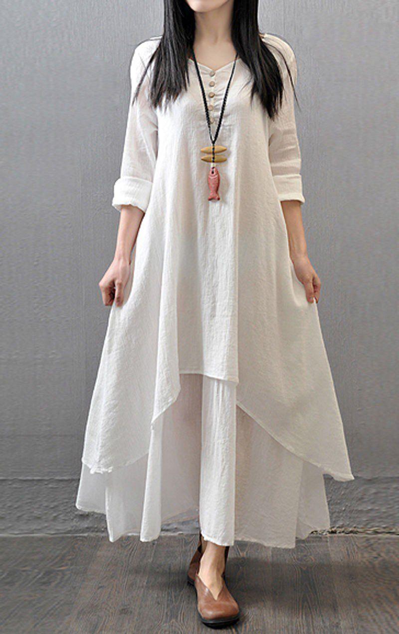 Cotton plain semi stitched maxi kurti white fashion pinterest