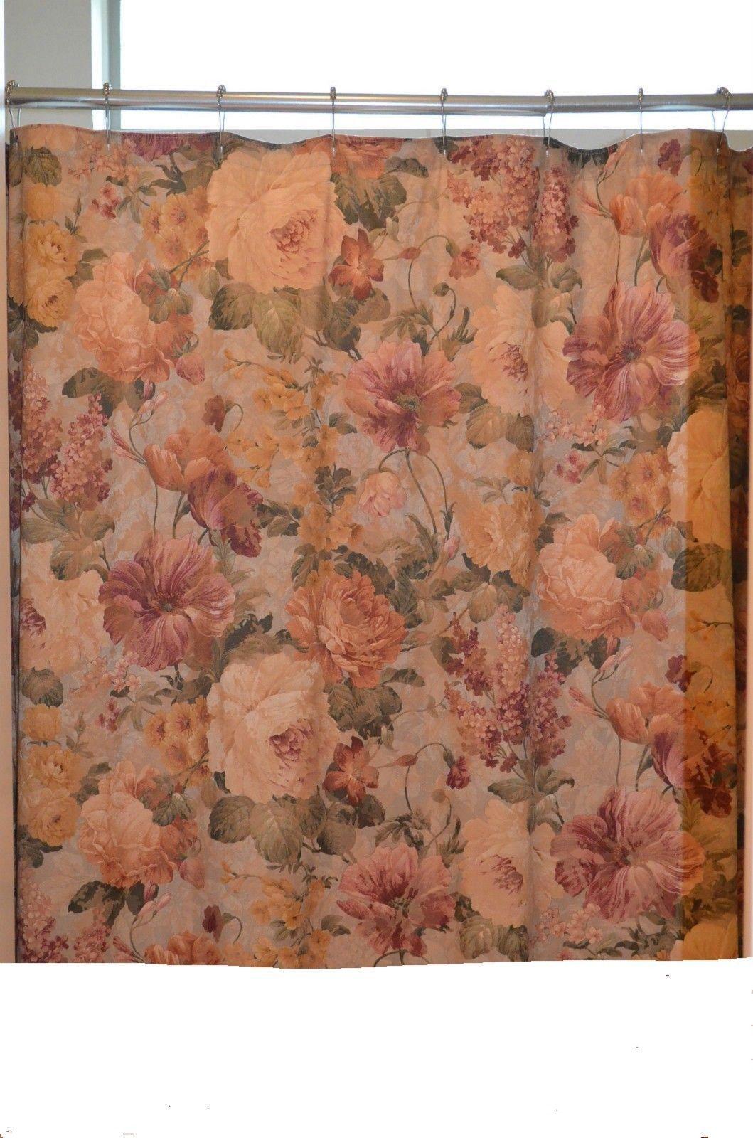 burlington monaco shower curtain floral