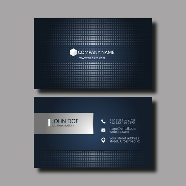 Dark Blue Business Card Template Vector 02 Https Www Welovesolo Com Dark Blue B Blue Business Card Business Card Template Design Business Card Design Black