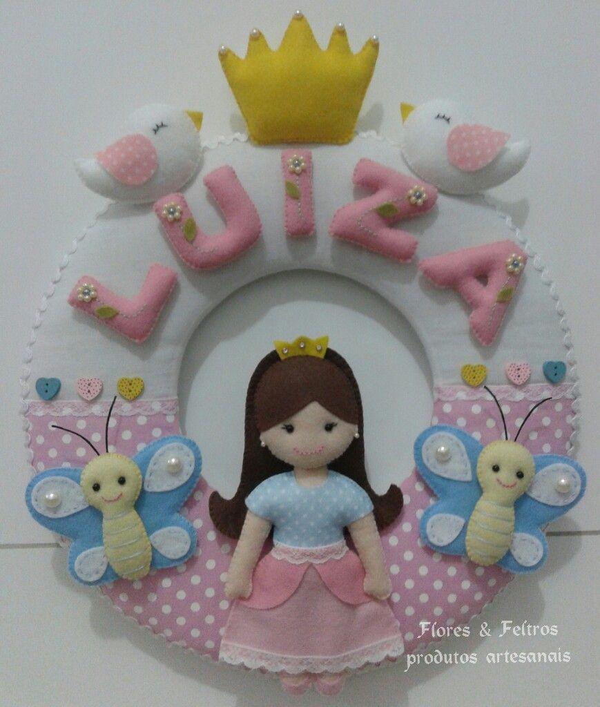 Guirlanda borboletas e princesa