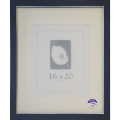 Frame USA Clean Cut Picture Frame Color: Blue, Size: 16\