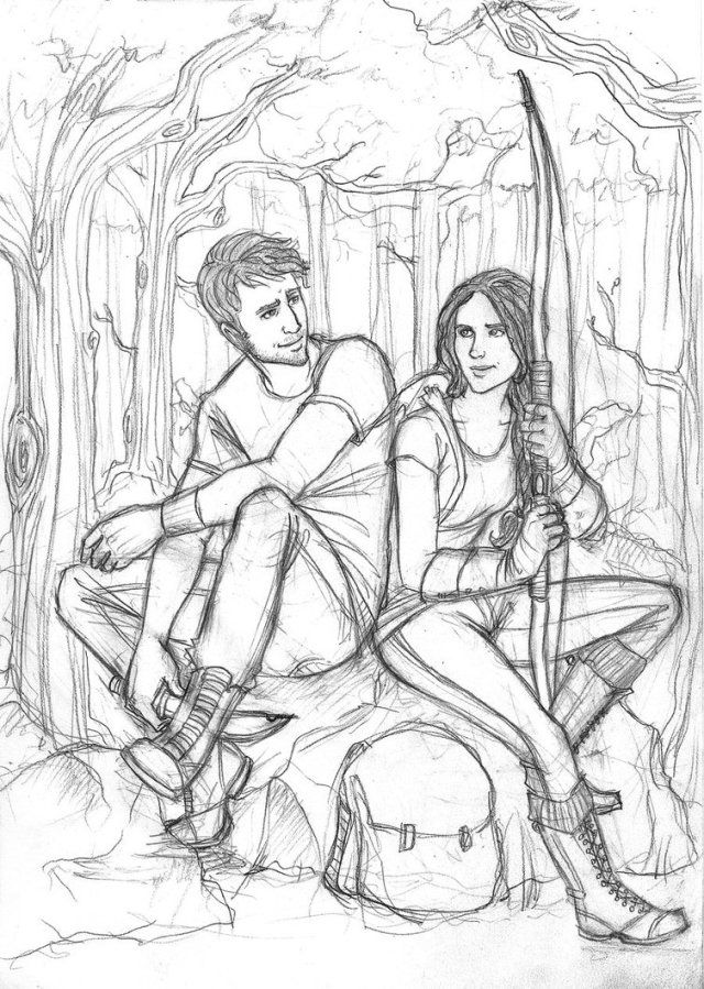 Hunger Games Character Coloring Pages The hunger games hunting