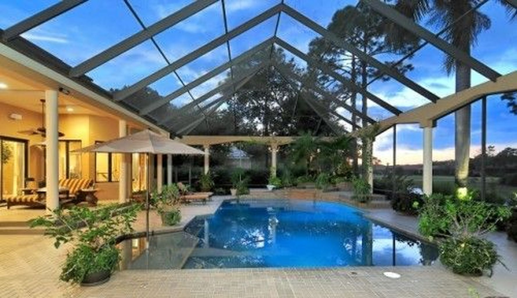 25 Screened In And Covered Pool Design Ideas Reusing And Recycling Your Present Pool Can Indoor Swimming Pool Design Luxury Swimming Pools Small Indoor Pool