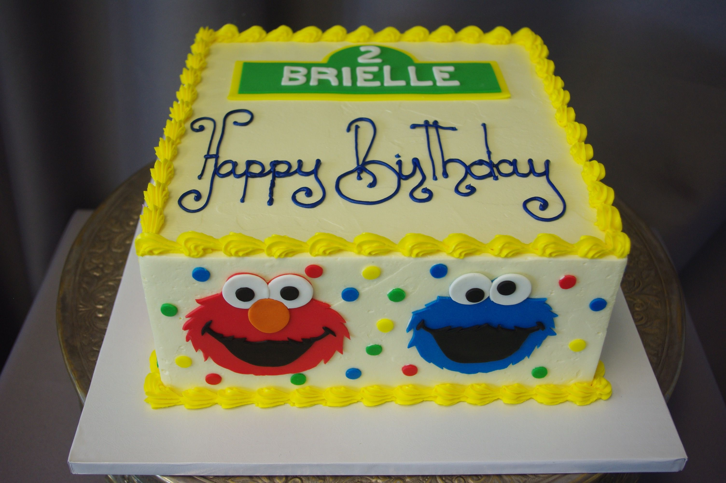 Children S Cakes With Images Sesame Street Birthday Cakes