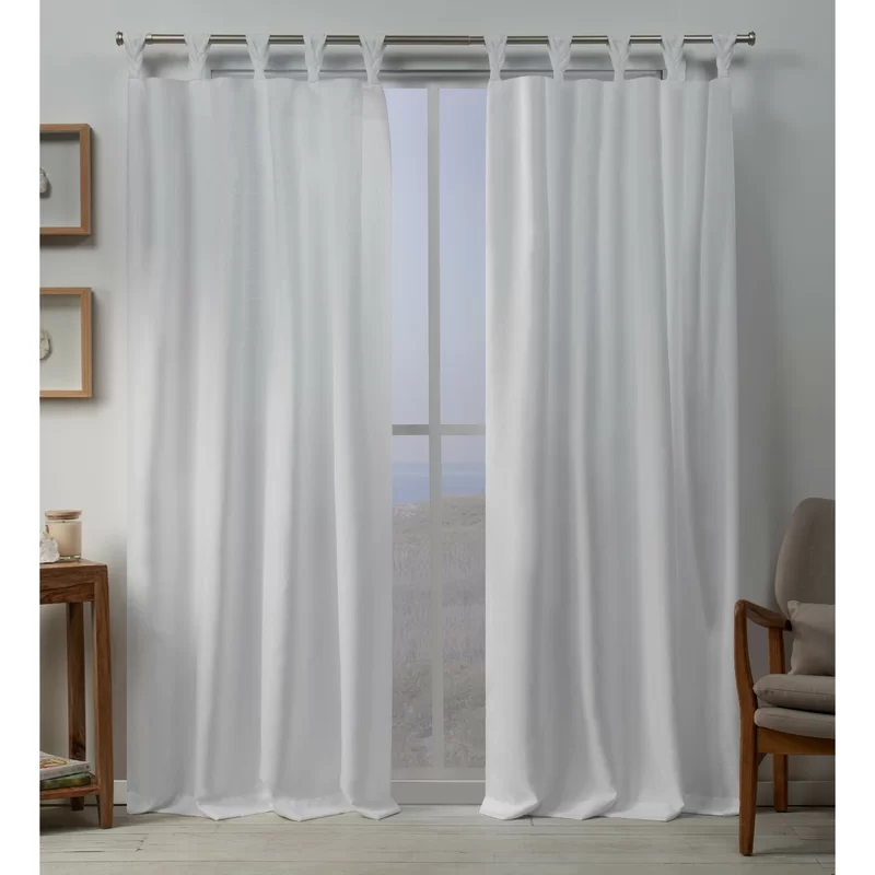 Heil Solid Color Room Darkening Tab Top Curtain Panels Home