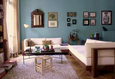 1000 images about salon on pinterest blue wall colors wall colors and tables - Decoration Salon Bleu