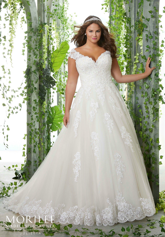 Pamela Plus Size Wedding Dress | Morilee | Plus wedding ...