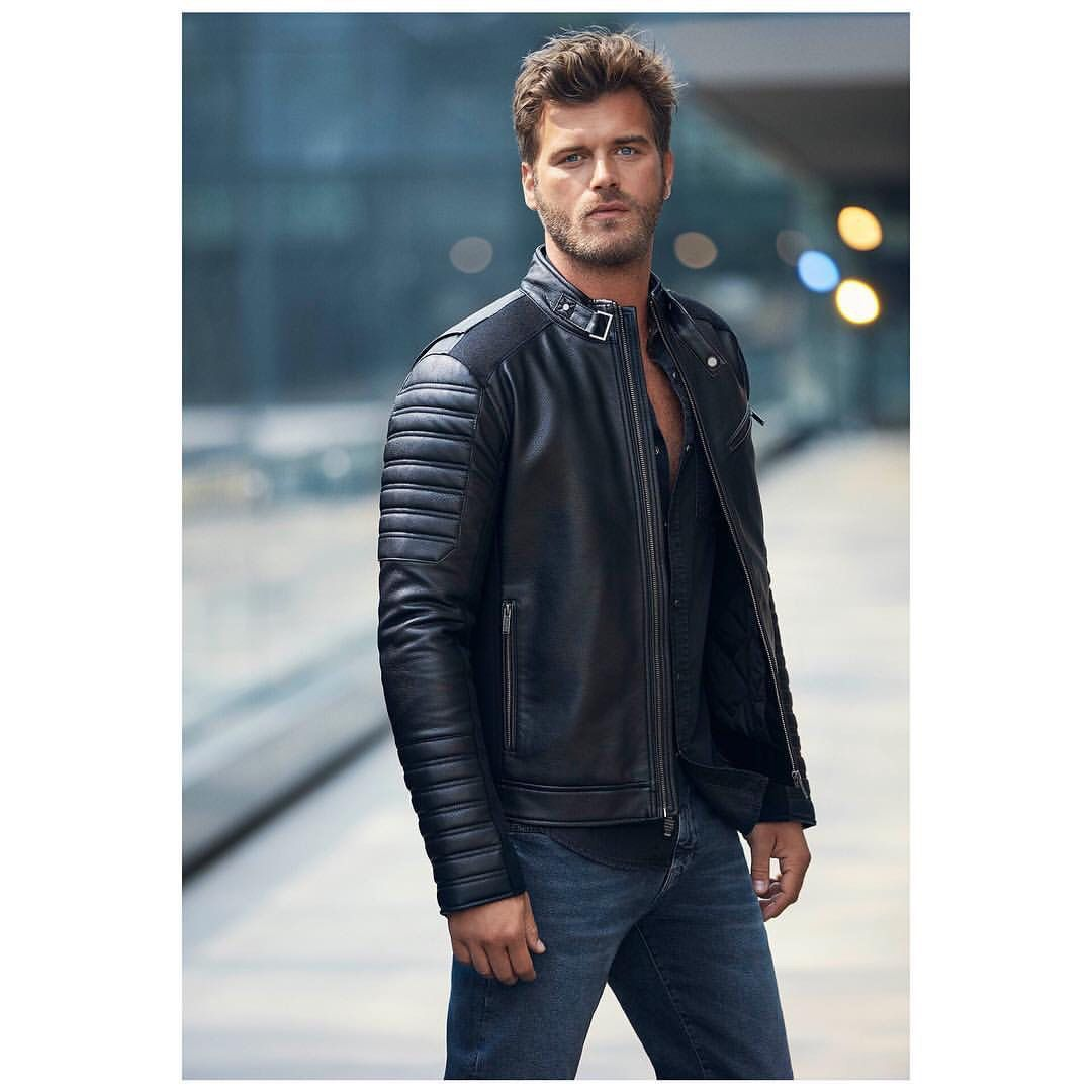 Pin By Tina Glass On The Best Turkish Actors Actresses Jackets Men Fashion Leather Jeans Men Leather Jacket Men [ 1080 x 1080 Pixel ]