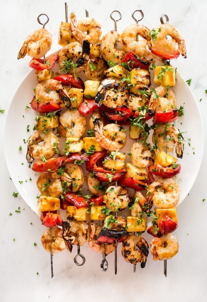 Pineapple Shrimp Skewers Recipe • Salt & Lavender