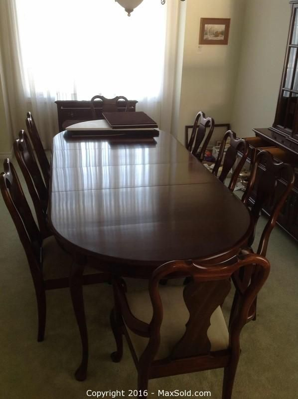 Gibbard Mahogany Dining Room Table And Chairs Dining Room Table