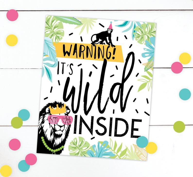 Born TWO Be Wild Birthday Invitation · Party Animal Invite