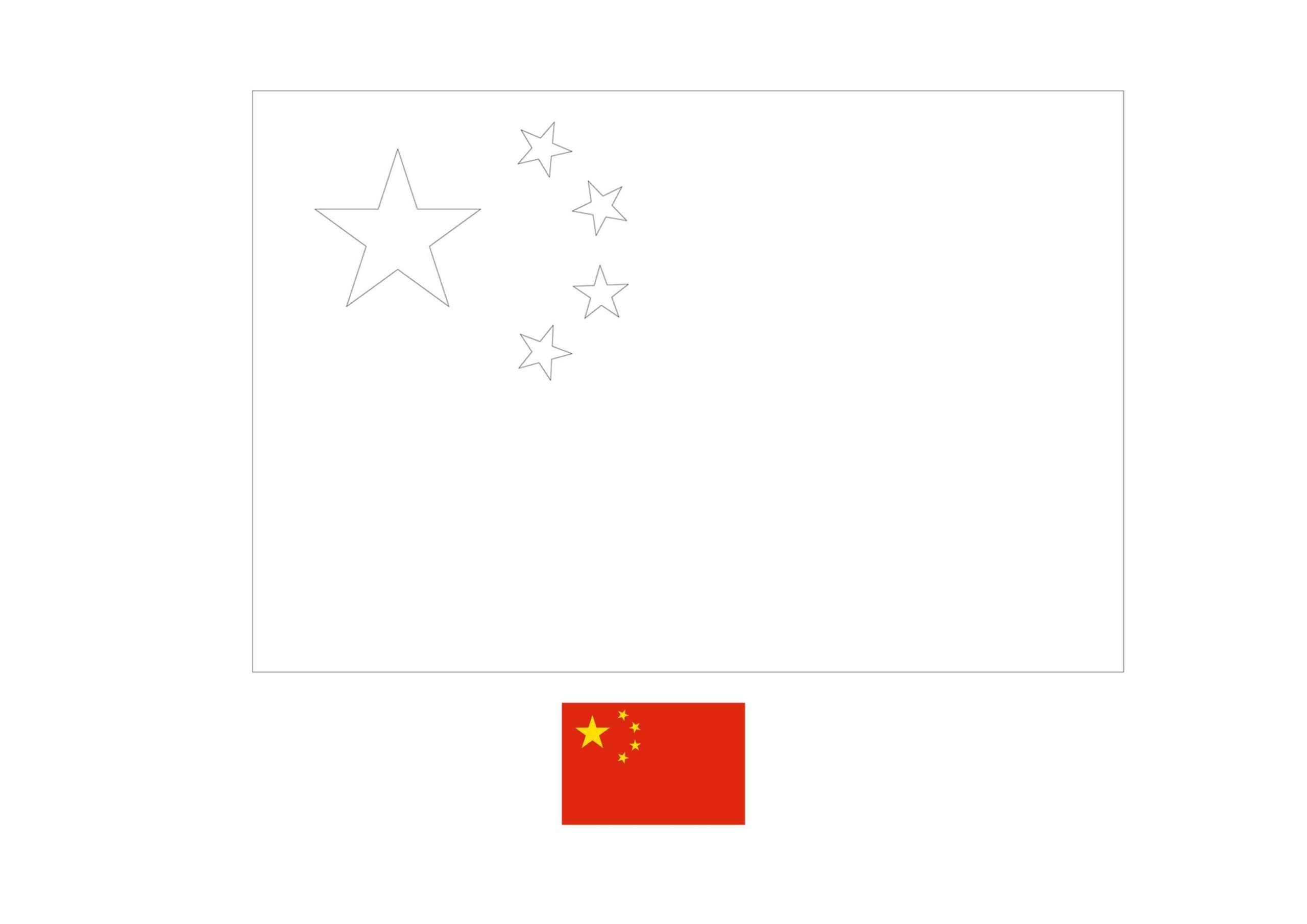 China Flag Coloring Page Flag Coloring Pages Flag Template China Flag