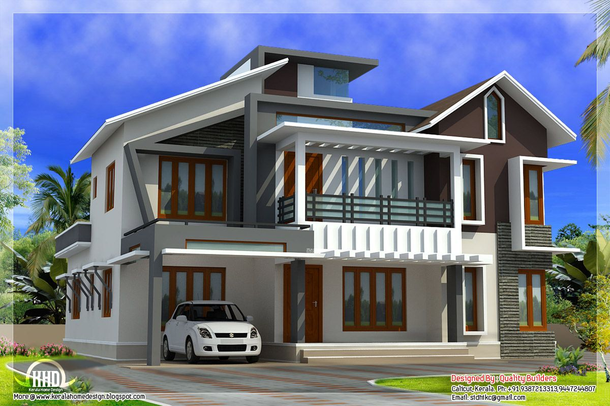 Urban house plans with yard modern contemporary home in for Kerala home designs contemporary