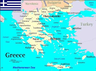 Greece On World Map map of world mythology | map of greece, Map of Greece, world map