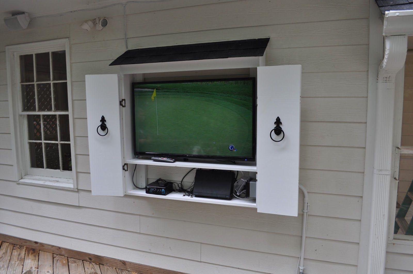 downright outside enclosure cabinet cabinets amazing waterproof simple case regard with outdoor tv to wood
