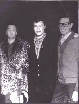 Big Bopper (28), Ritchie Valens (17), and Buddy Holly (22). Feb 3, 1959.