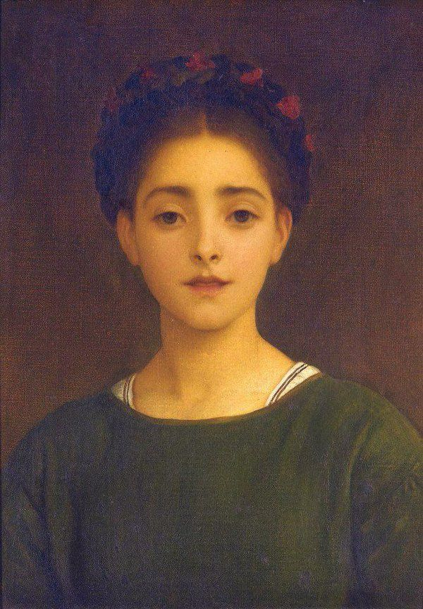 Frederic Leighton(English painter, sculptor, illustrator writer 1830ー1896)「Leandra」