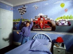 Indy Racing Car Wall Mural Race New Boys Wallpaper Boys - Boys car wallpaper designs